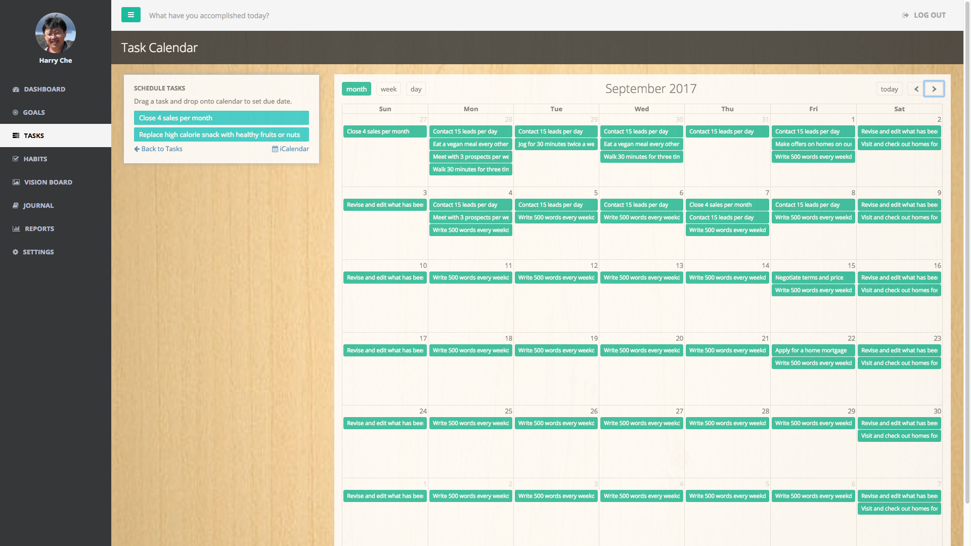 Screenshot feature calendar